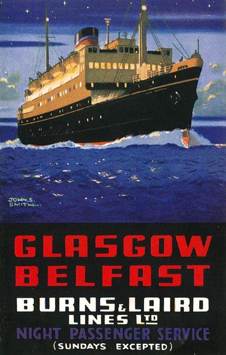 Glasgow-Belfast by ship