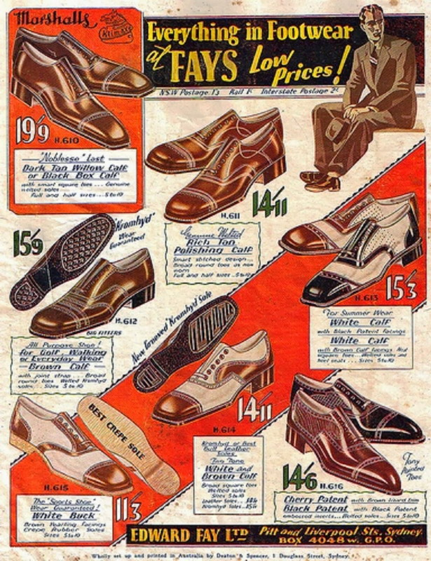 Men's Shoes, Australia, 1930s