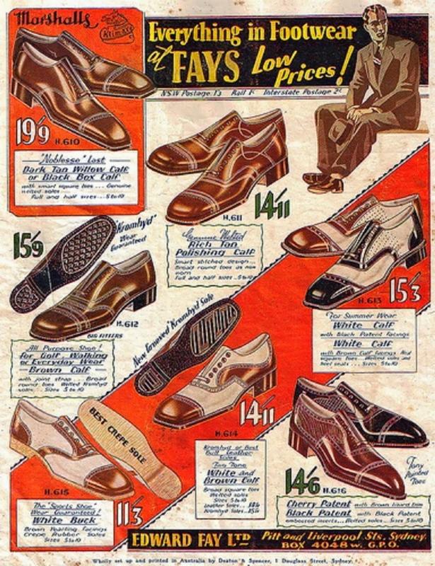 Men's Shoes, Australia,1930s