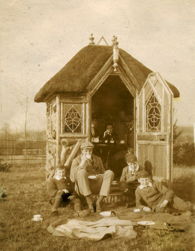 Back yard tea house, 1800s