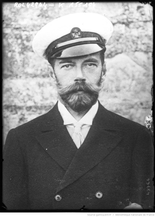 Russian Tsar Nicholas II wearing an Imperial Navy cap