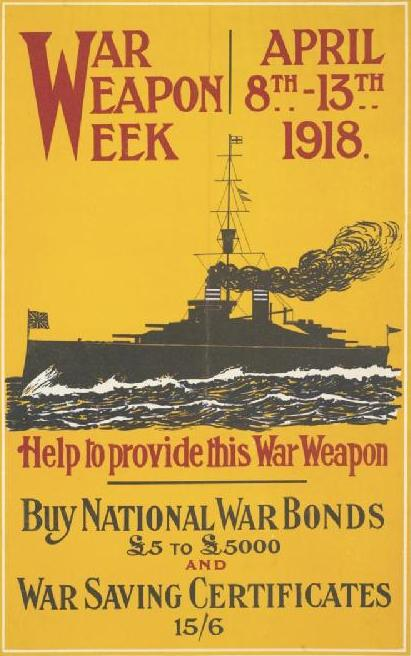 War Weapons Week, UK, 1918