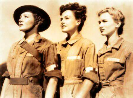"Claudette Colbert, Paulette Goddard and Veronica Lake in ""So Proudly We Hail"""