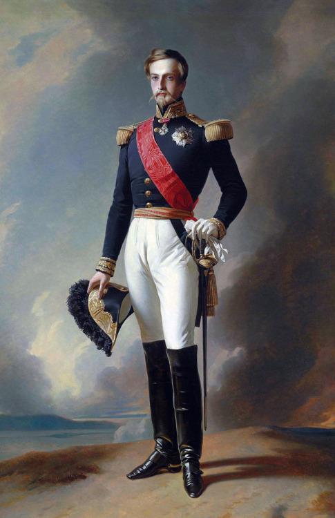 Henri d'Orléans, Duc D'Aumale *oil on canvas *218 x 142 cm *original is lost