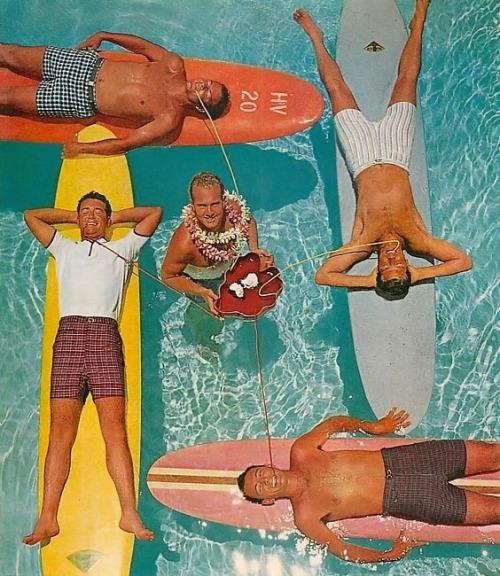 Men's swimwear, 1950s