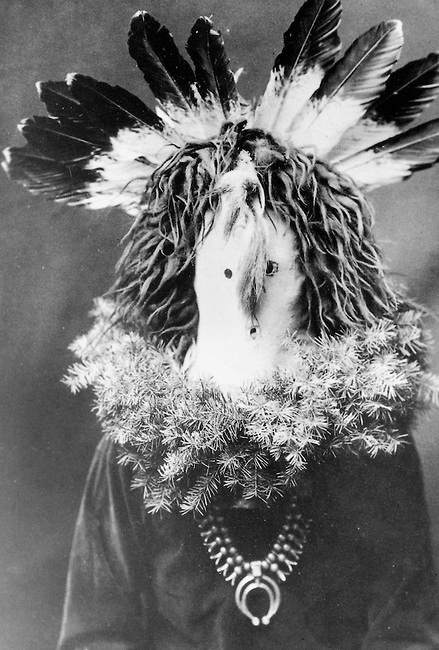 1905 Historic photograph by Edward Curtis of Haschogan a Navajo spirit figure