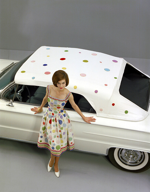 1961 Buick Convertible with Polka-Dot Top