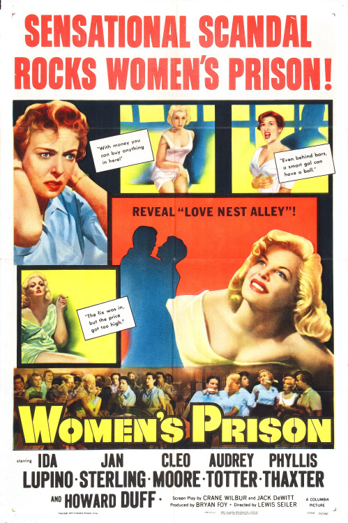 """Women's Prison"" starring Audrey Totter and Ida Lupino, 1955"