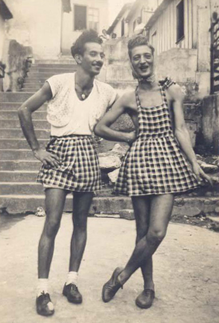 Cross dressing, 1940s