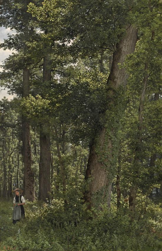 eichwald-oak-forest-robert-zund-swiss-1827-1909