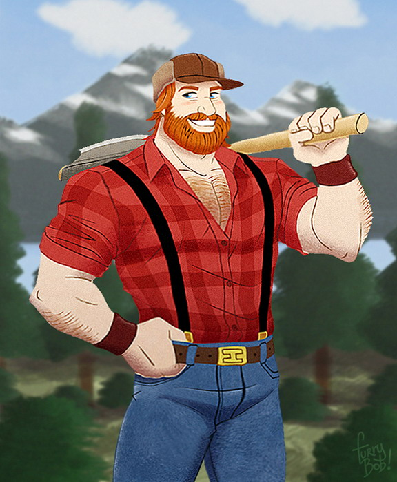 Furry Bob, the lumberjack