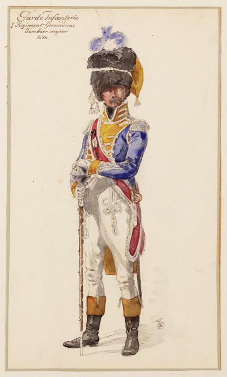 Garde Infanterie, et son moustache,1810