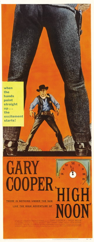 "Poster for ""High Noon"", starring Gary Cooper"