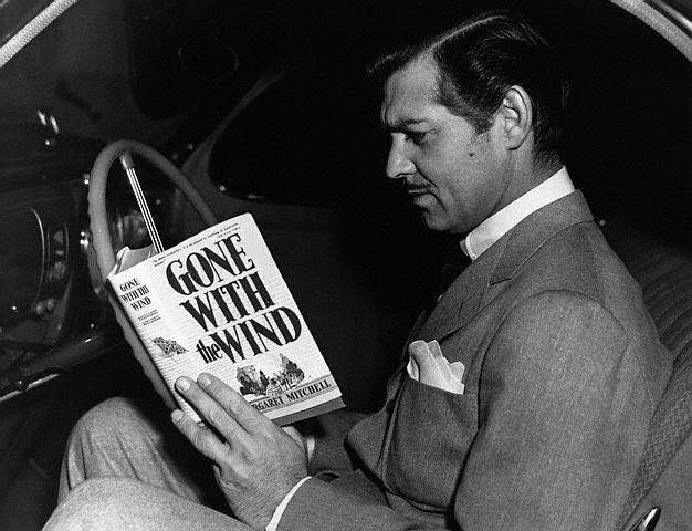 Clark Gable reading a book…