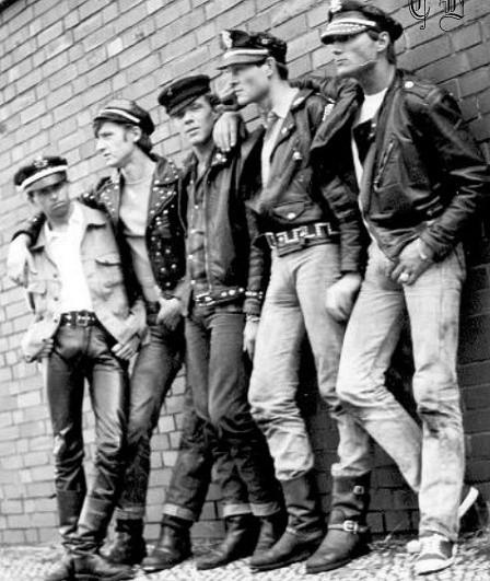 Leather guys, 1970s?