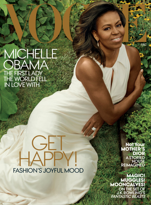 Michelle Obama on the December cover of Vogue