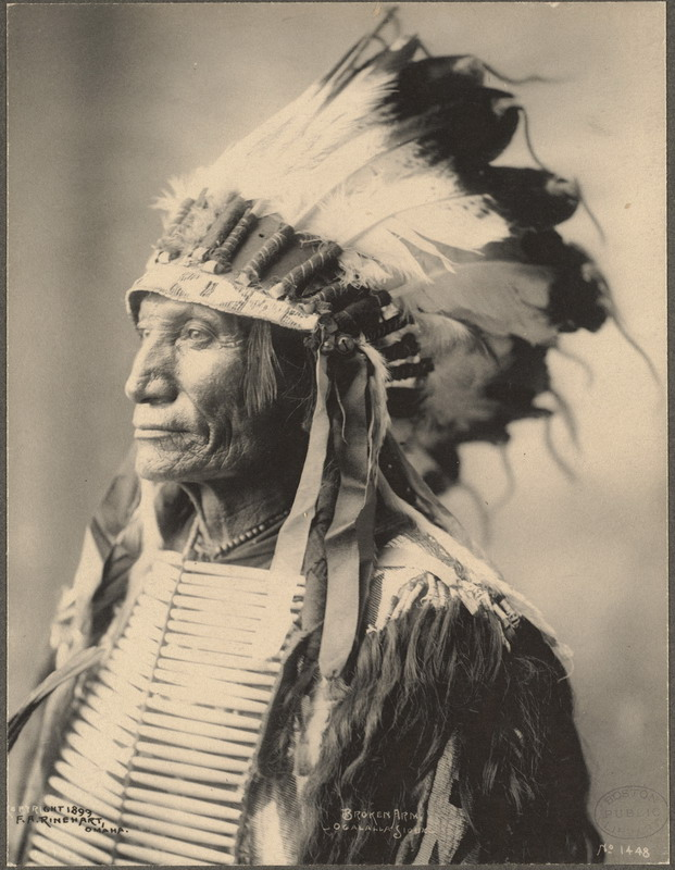 Frank Rinehart portrait of Broken Arm, Ogalalla Sioux, 1899.
