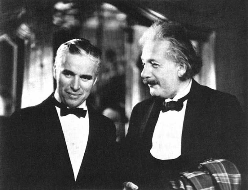 Odd combinations: Charlie Chaplin with Albert Einstein