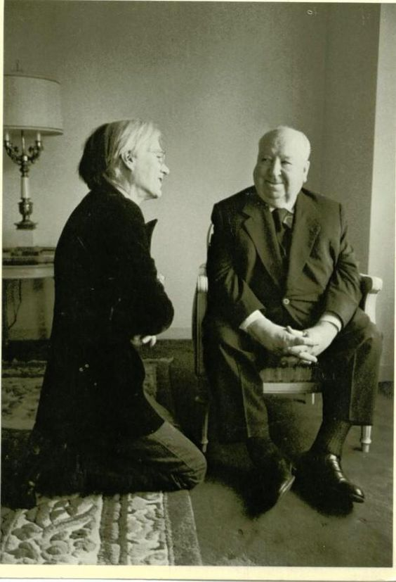 Odd combinations: Andy Warhol and Alfred Hitchcock