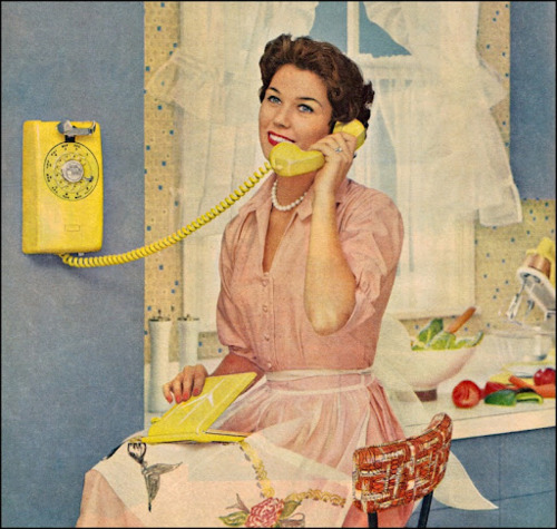 Yellow extension phone