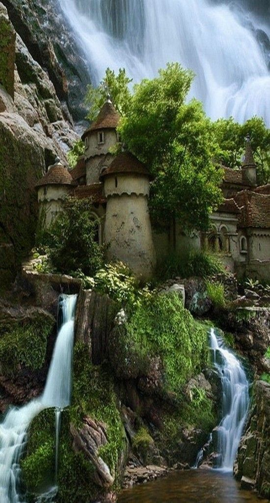 polish-castle-waterfall