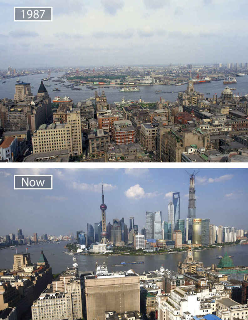 Then and Now: Shanghai,China