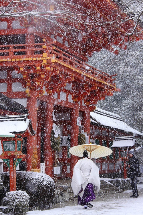 Snow in northern Japan