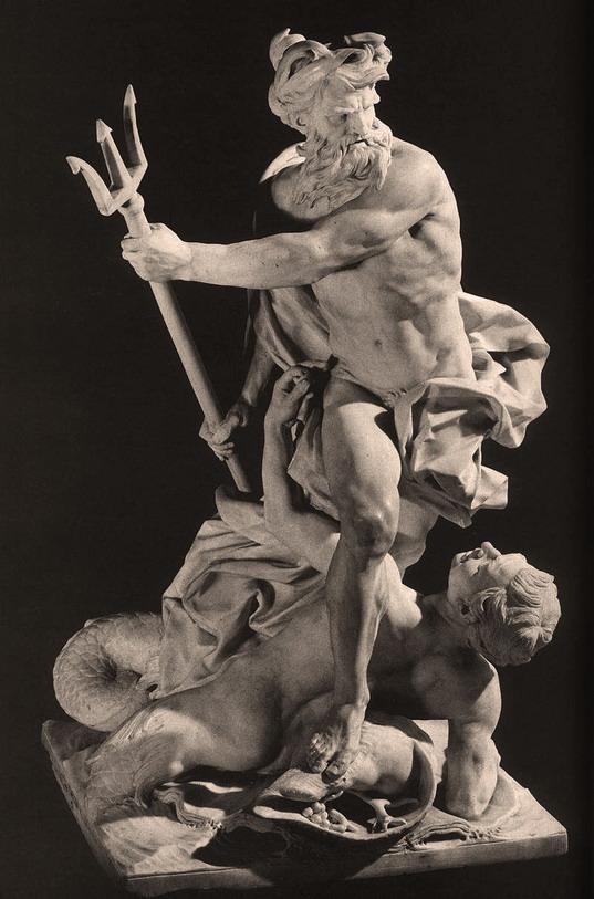 Poseidon/Neptune smiting someone