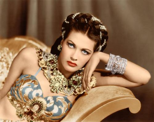 "Yvonne DeCarlo in ""Salome"", 1945"