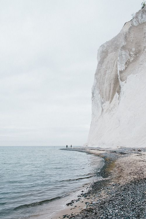 White cliffs along the English Channel,England