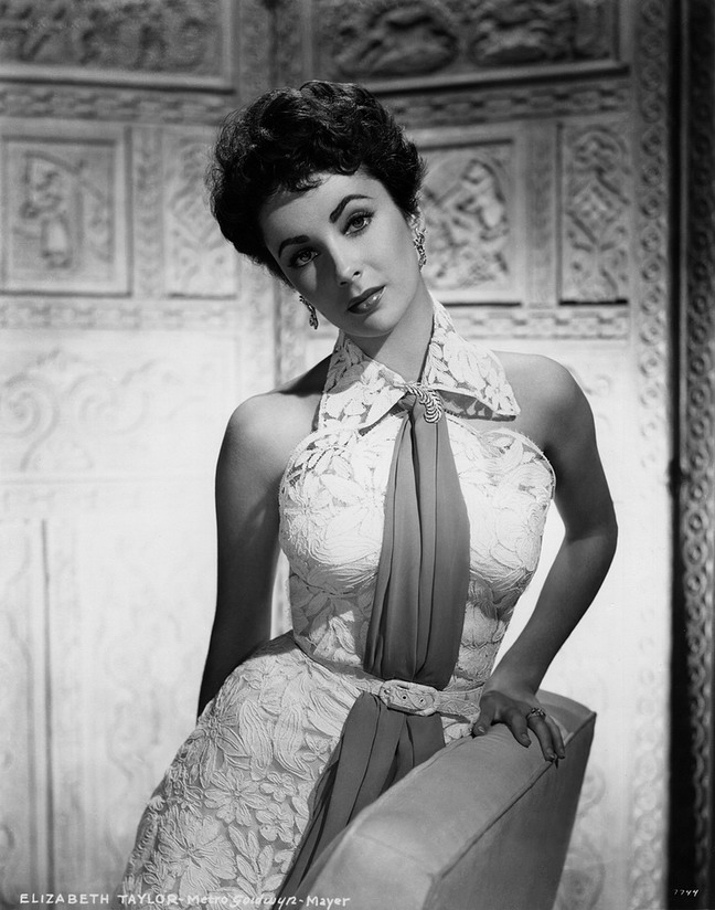 "Elizabeth Taylor in a promo shot for ""The Girl Who Had Everything"", 1953"