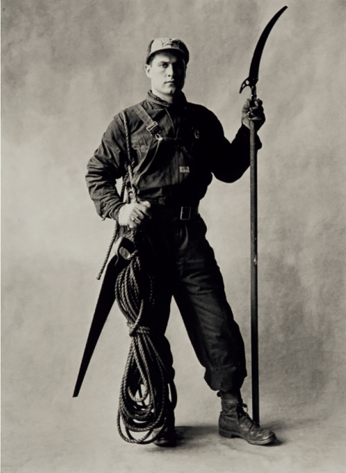 Tree Pruner by Irving Penn, 1951