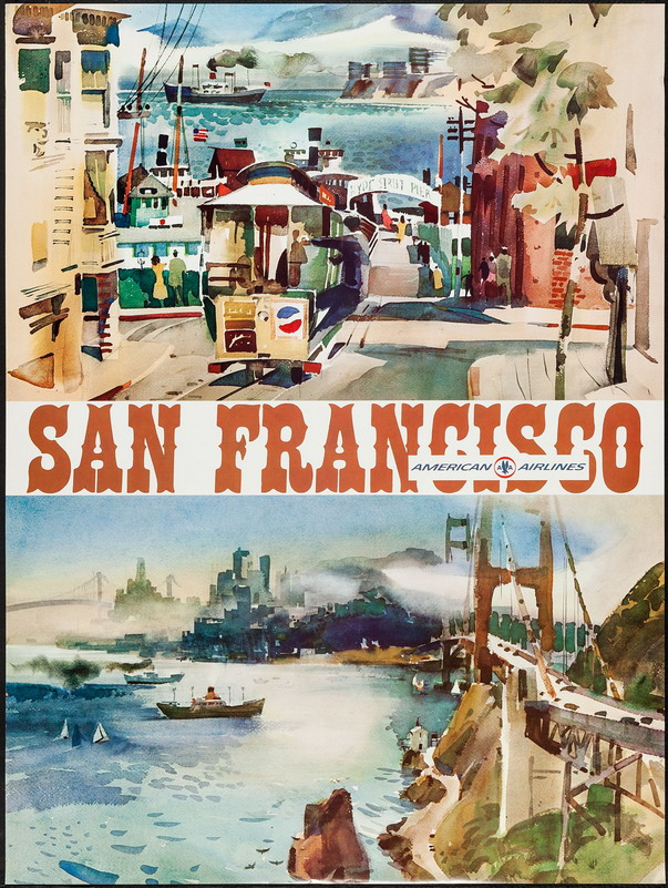 San Francisco by American Airlines, early 1950s