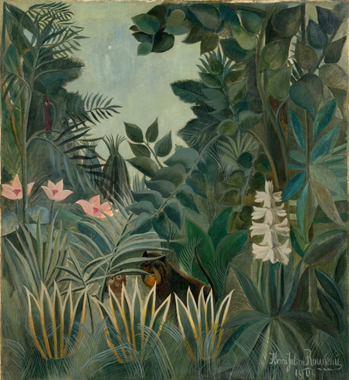 """The Equatorial Jungle"" by Henri Rousseau, 1909"