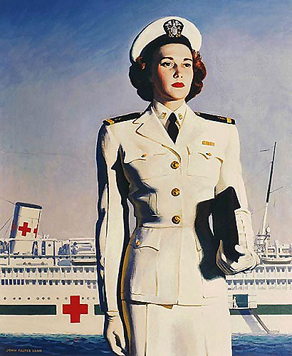 US Navy nurse and hospital ship, WWII era