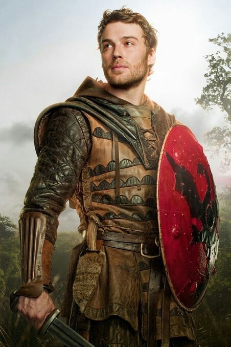 Actor Peter Mooney as a warrior