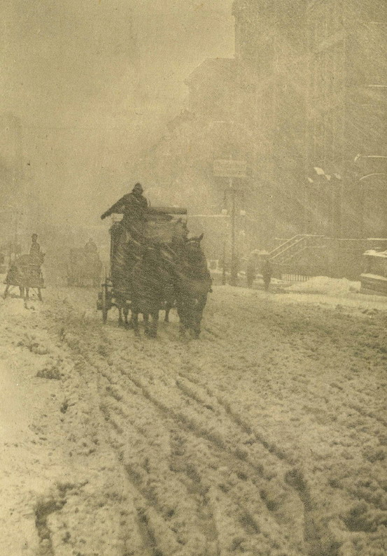 Winter on Fifth Avenue, NYC, 1892 by Alfred Stieglitz