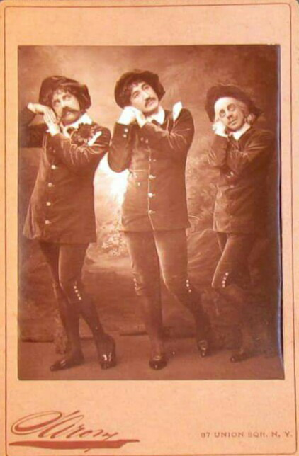 3 Men Together, NYC, 1800s