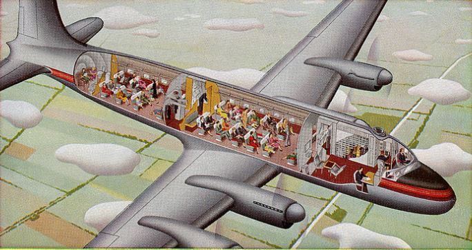 Cross-section of an airplane, Canada
