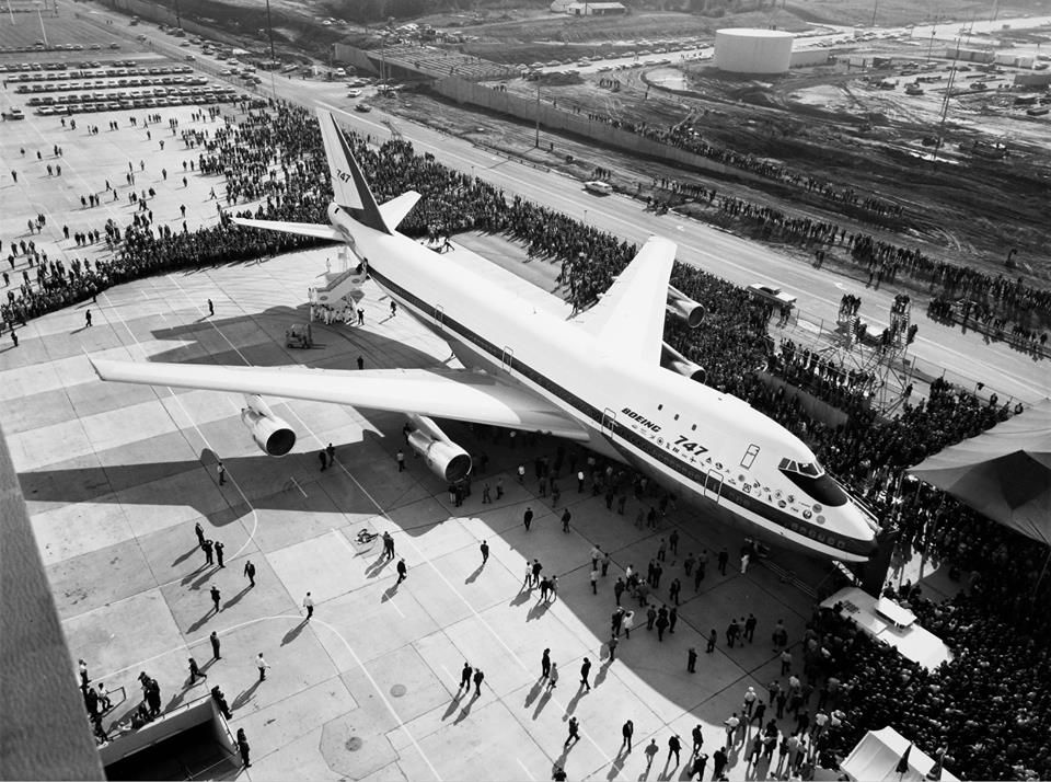 The very first Boeing 747, late 1960s