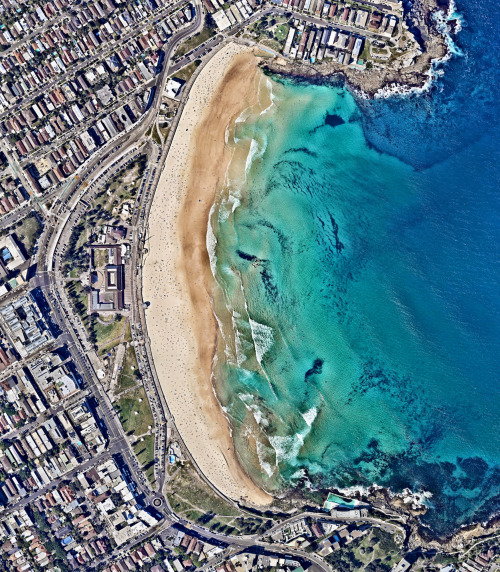 Bondi Beach from the air, Sydney, Australia