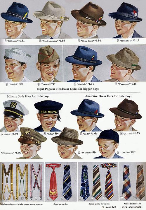 Boys hats, maybe1940s