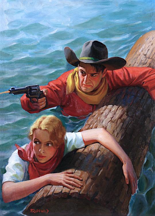 Cowboy Pulp Illustration