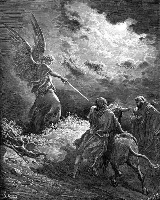 Gustave Doré (1832-1883), 'An Angel Appears to Balaam' (Num 23 15-3), 1866