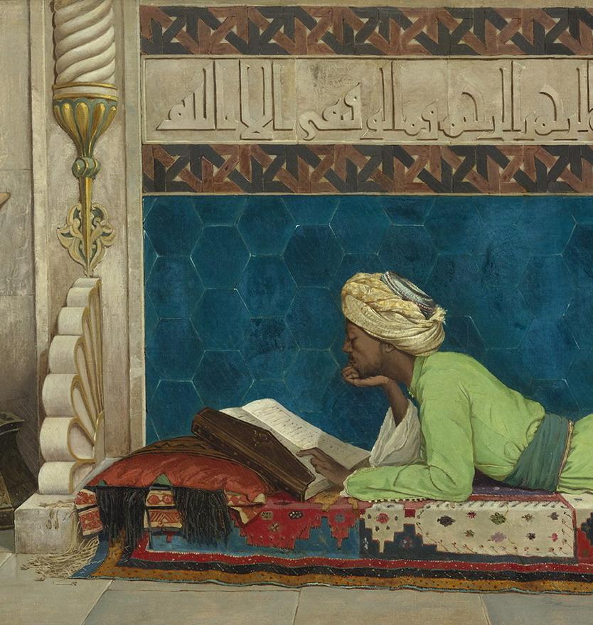 Man studying theKoran
