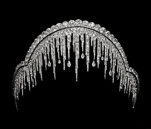 Ice Frost (Stalactite) Diamond Tiara by Chaumet, 1904