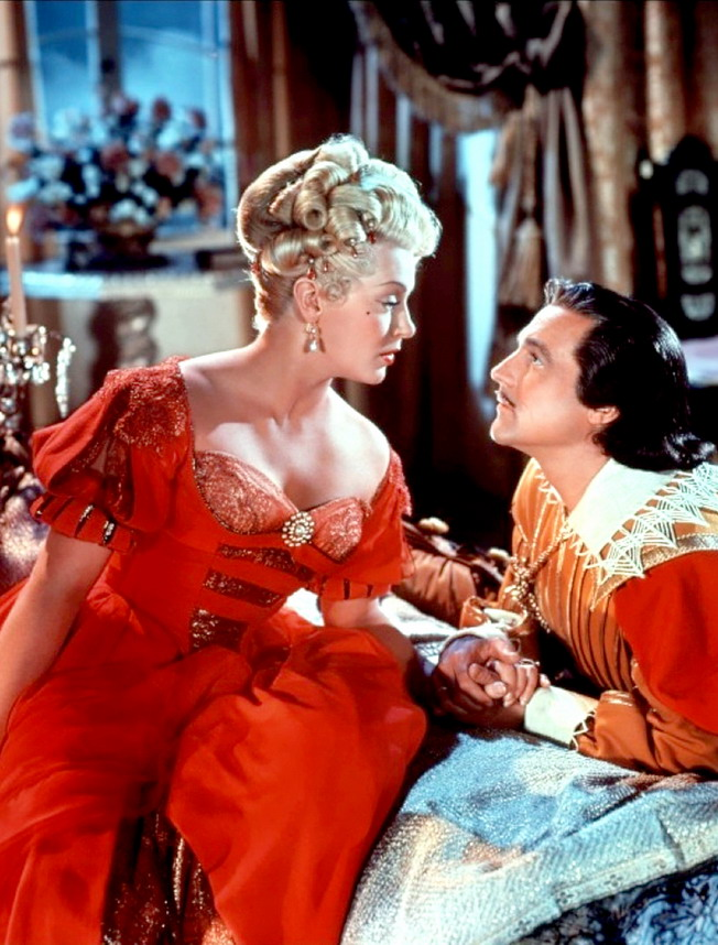 """Lana Turner and Gene Kelly in """"The Three Musketeers"""", 1948"""