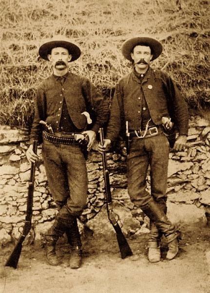 Vintage Mustachioed Lawmen