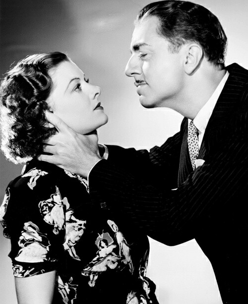Myrna Loy and William Powell in a love/hate moment