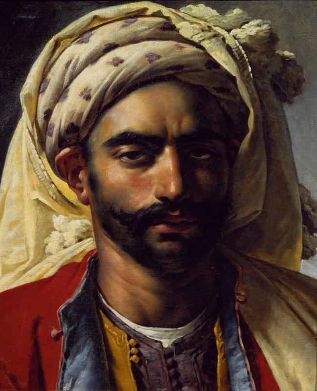 """Portrait of Mustapha: by Anne-Louis Girodet deRoussy-Trioson"